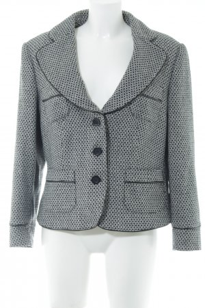 Heine Strickblazer schwarz-weiß Mustermix Business-Look