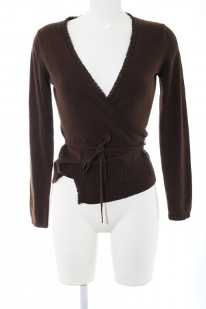 Heine Knitted Wrap Cardigan brown casual look