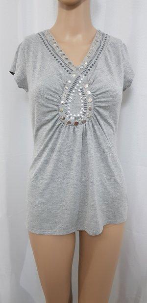 heine T-Shirt grau