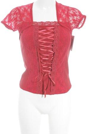 Heine T-Shirt rot florales Muster extravaganter Stil