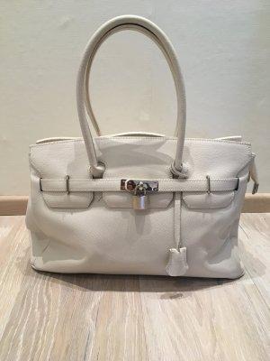 Heine Tasche Handtasche weiß Leder