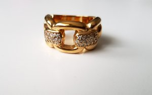 Heine Vergoldeter Ring 925er Sterlingsilber Zirkonia verschlungener Optik Gr. 57