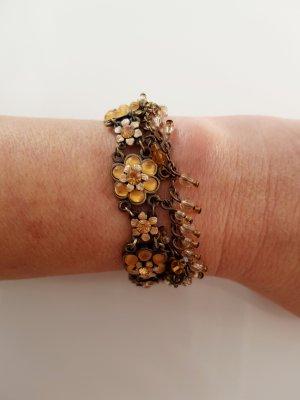 HEINE Vintage Armband Swarovski-Kristalle altgoldfarben florales Design NP.79,90