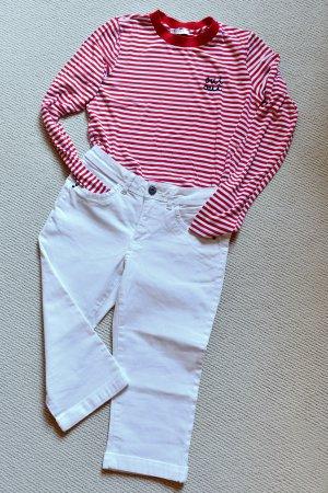 Heine Pantalon capri blanc tissu mixte