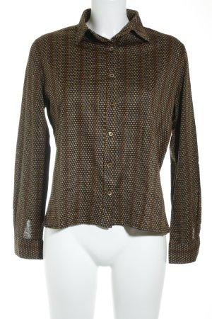 Heinzelmann Langarm-Bluse abstraktes Muster klassischer Stil