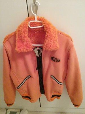 Uncle Sam Fake Fur Jacket orange