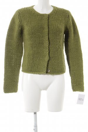 Heldmann Coarse Knitted Jacket lime-green fluffy