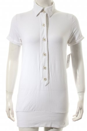 Heldmann Short Sleeved Blouse white casual look mixture fibre