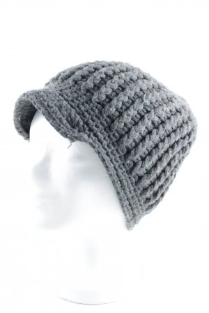 Heldmann Knitted Hat grey cable stitch street-fashion look