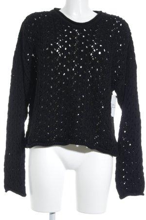Heldmann Jersey de punto negro modelo de punto flojo estilo clásico