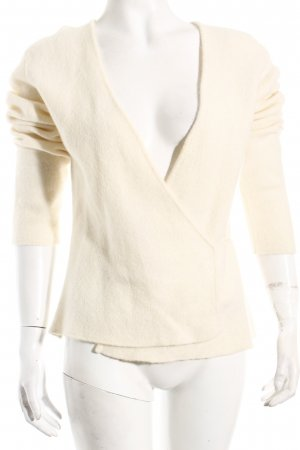 Heldmann Knitted Wrap Cardigan natural white minimalist style