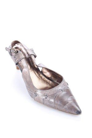 Helen Billkrantz Slingback-Pumps graubraun klassischer Stil