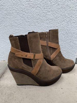 Helen Billkrantz Wedge Booties light brown-brown