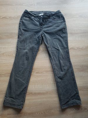 Helena Vera Jeans met rechte pijpen grijs