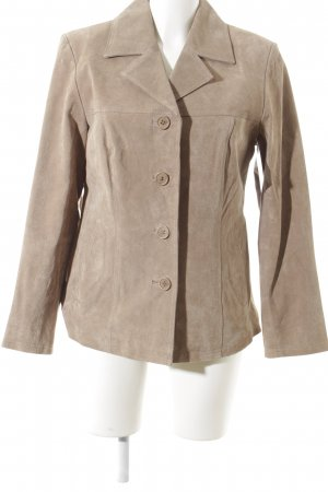 Helena Vera Lederjacke sandbraun Business-Look
