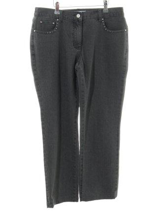 Helena Vera Straight-Leg Jeans schwarz Casual-Look
