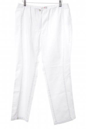 Helena Vera Pantalon strech blanc style décontracté