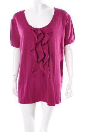 Helena Vera T-Shirt magenta Volantbesatz