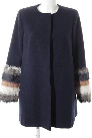 Helene Berman Veste en laine moucheté style décontracté