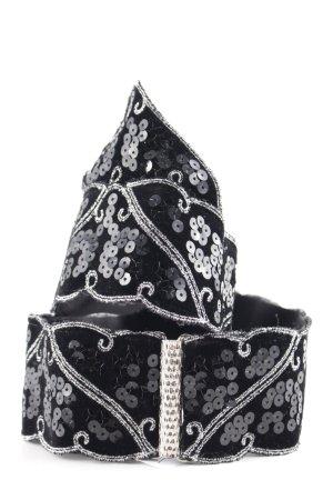 Helene Straßer Cinturón de cadera negro-blanco puro estilo fiesta