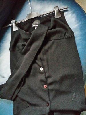 Jupe tricotée noir tissu mixte