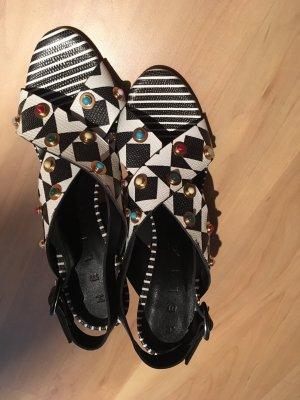 High Heel Sandal black-white