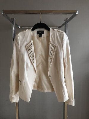 H&M Denim Blazer white-gold-colored