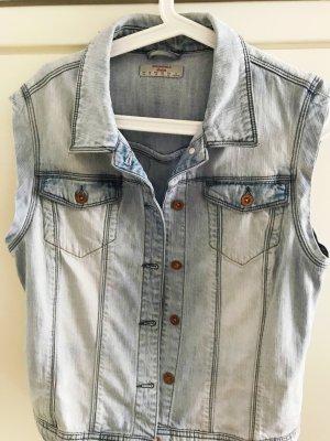 Hell blaue Jeans Weste