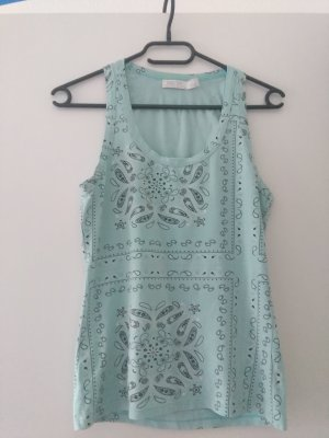 Zara Top black-baby blue