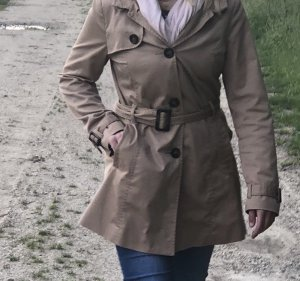 H&M Divided Manteau à capuche marron clair