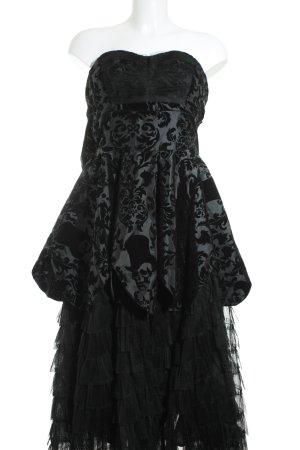 Hell Bunny Cocktailkleid schwarz florales Muster klassischer Stil