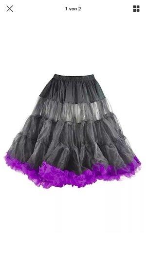 Hell Bunny Petticoat Swing Long Black/Purple Größe:XS-M