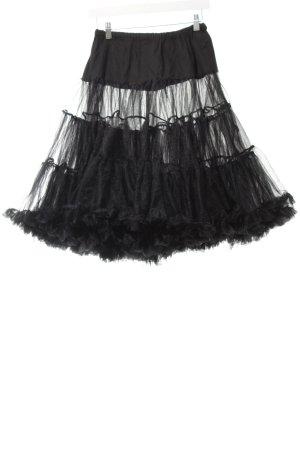 Hell Bunny Tulle Skirt black rockabilly style