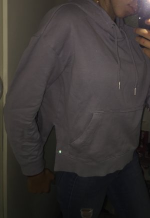 Hell fliederfarbener gemütlicher Hoodie mit Kaputze