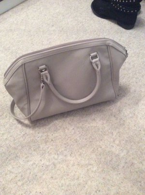 H&M Carry Bag silver-colored imitation leather