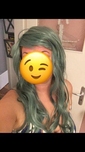 Cappello a maglia verde chiaro-verde pallido