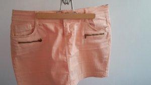 hell-oranger kurzer Jeans Rock von Pimkie