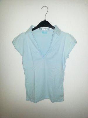 Hellbaues T-shirt mit V-Ausschnitt ☆