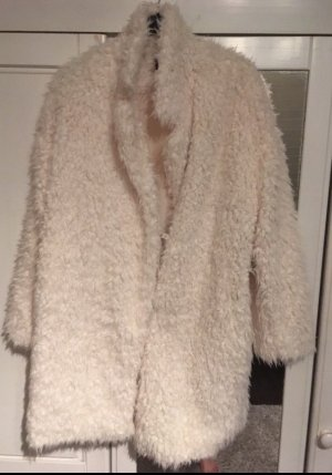 river woods Fake Fur Coat oatmeal
