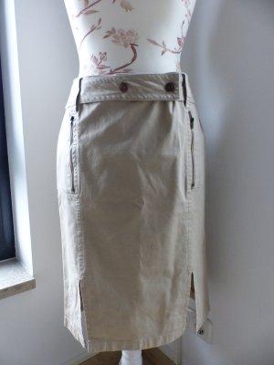 esprit collection Falda de tubo beige claro Algodón