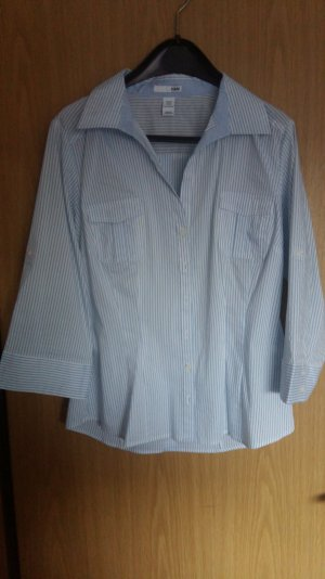 Hellblau, gestreifte Bluse