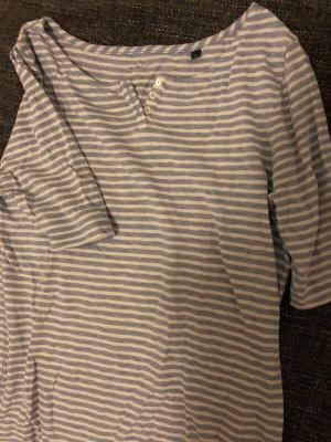 Marc O'Polo V-hals shirt wit-azuur