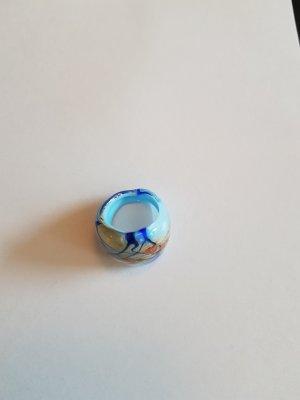 hellblau-goldener Glasring