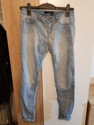 Slim jeans wit-azuur