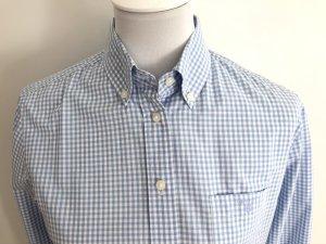 Gant Checked Blouse neon blue-white cotton