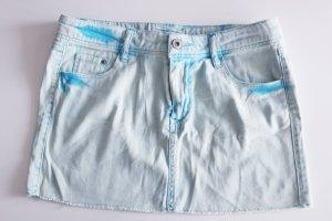 Hellblau/türkiser Jeans-Minirock