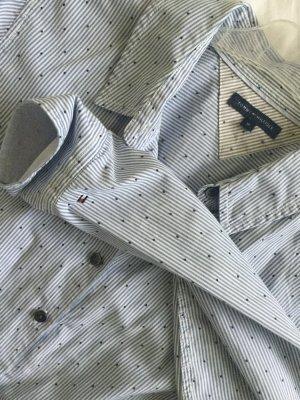 Hellblau weiß gestreifte Bluse von Tommy Hilfiger in Gr 40