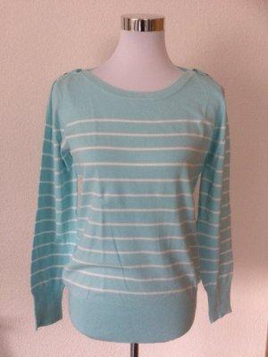 hellblau weiß gestreifter Pullover/Pulli von Yessica / C&A - Gr. M