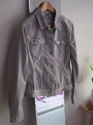 Hellblau/weiß verwaschene Jeansjacke von S.Oliver