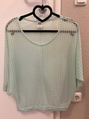Vero Moda Mesh Shirt light blue-baby blue